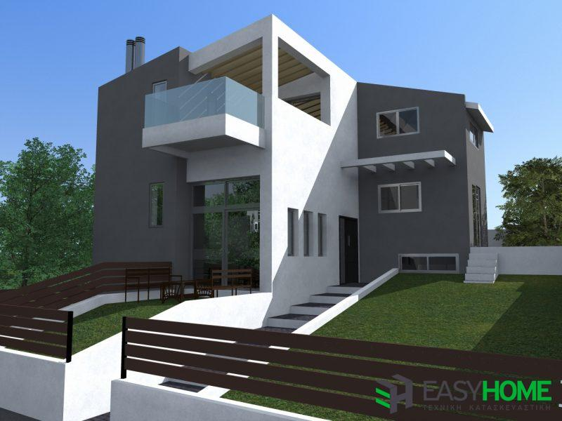 Διώροφη κατοικία & σοφίτα 120m² και υπόγειο 75m²