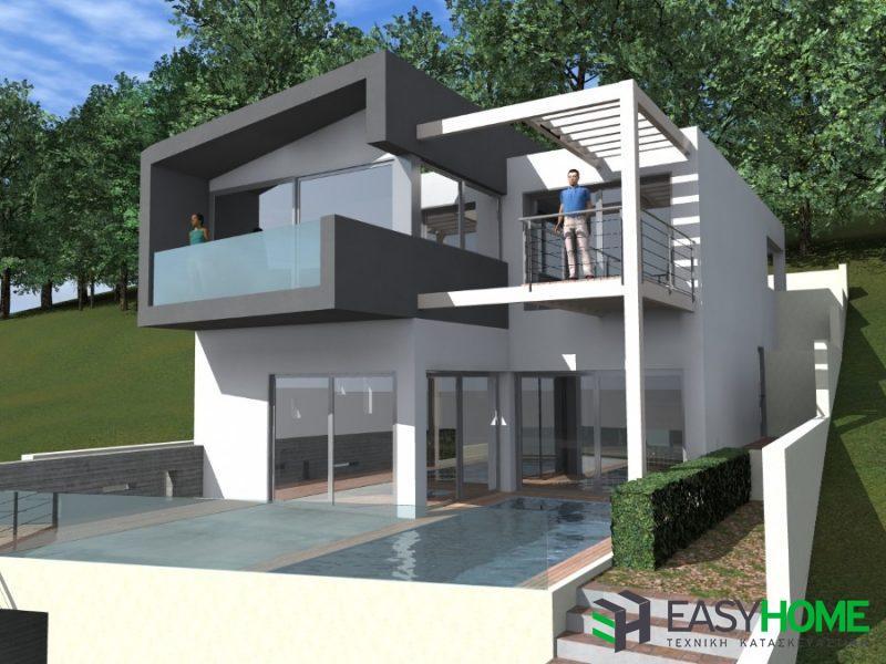 Τριώροφη μονοκατοικία 225m²