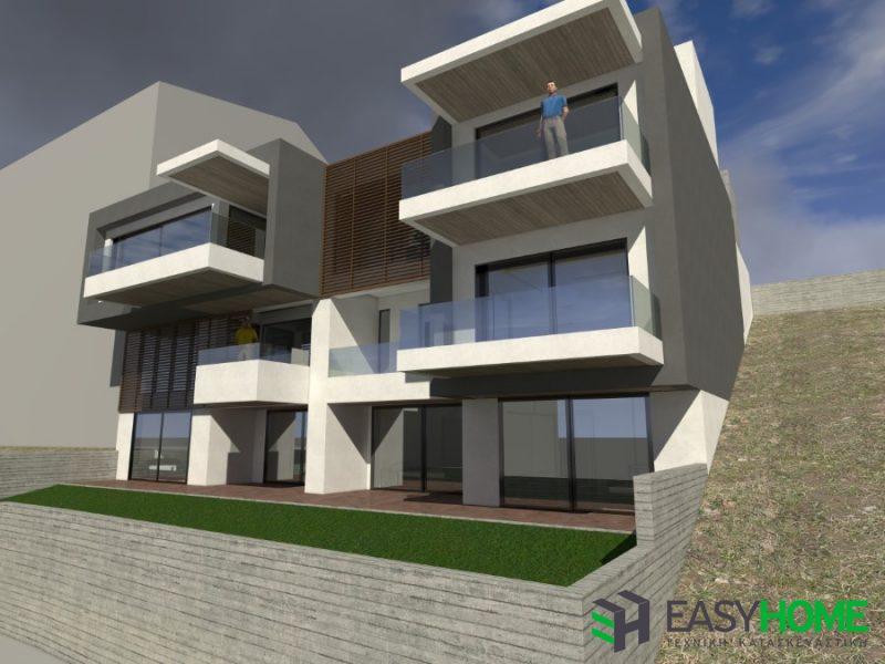 Συγκρότημα τριώροφων οικιών 460 m²