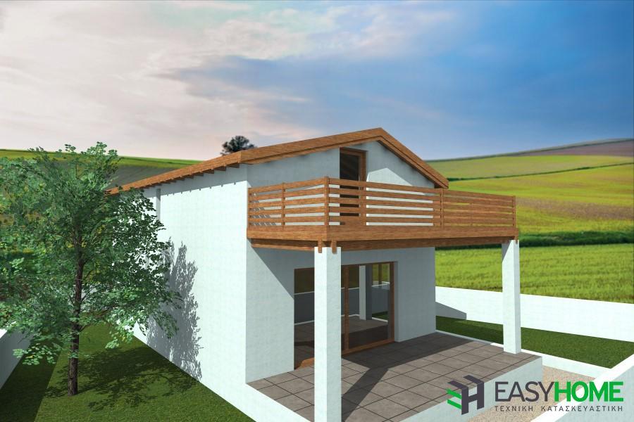 Ισόγεια οικία 60m² με σοφίτα 30m²