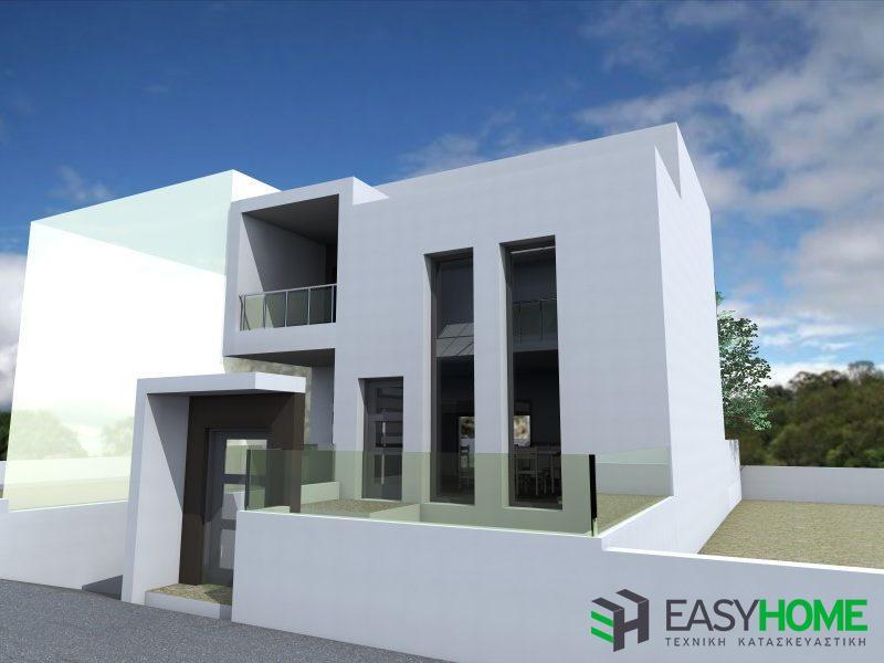 Οικία με σοφίτα 165m² και υπόγειο 70m²