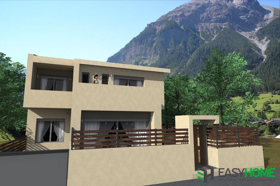 Οικία 191m² με υπόγειο 149m² και σοφίτα 46m²