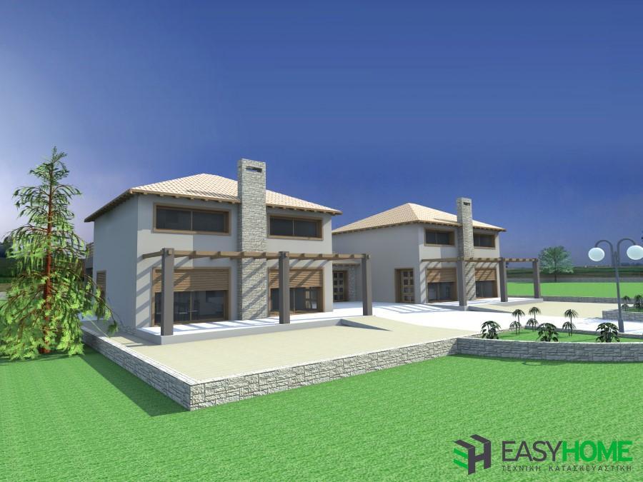 Οικία 166m², σοφίτα 86m² και γραφείο 34m²