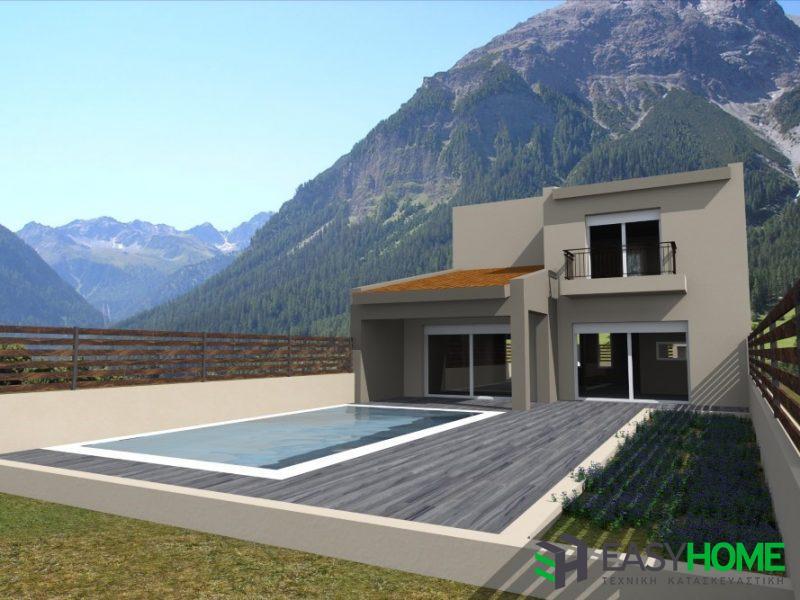διώροφη οικία 140τμ